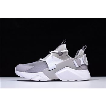 Mens and WMNS Nike Air Huarache City Low Atmosphere Grey/White Casual Shoes AH6804-004