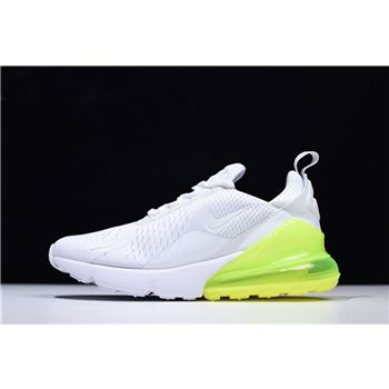 Men's and Women's Nike Air Max 270 White Volt Running Shoes AH8050-104