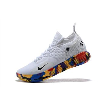 2018 Nike KD 11 NCAA March Madness White/Multi-Color
