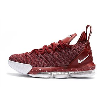 Cheap Nike LeBron 16 Wine Red Wine/White For Sale