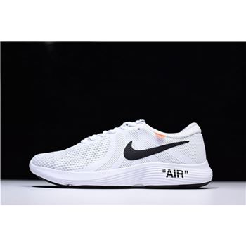 Off-White x Nike Revolution 4 White Running Shoes Mens and WMNS Size 908988-012 For Sale